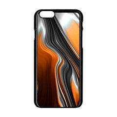 Fractal Structure Mathematics Apple Iphone 6/6s Black Enamel Case