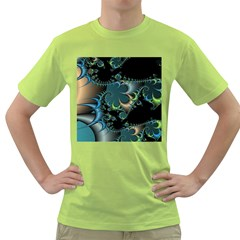 Fractal Art Artwork Digital Art Green T Shirt