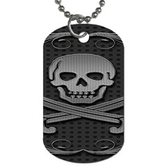 Skull Metal Background Carved Dog Tag (two Sides) by Onesevenart