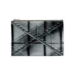 Architecture Stairs Steel Abstract Cosmetic Bag (medium)  by Onesevenart
