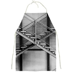 Architecture Stairs Steel Abstract Full Print Aprons by Onesevenart