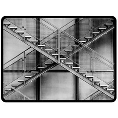 Architecture Stairs Steel Abstract Fleece Blanket (large)  by Onesevenart