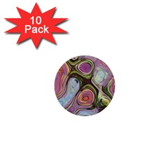 Retro Background Colorful Hippie 1  Mini Buttons (10 Pack)