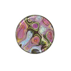 Retro Background Colorful Hippie Hat Clip Ball Marker (10 Pack) by Onesevenart