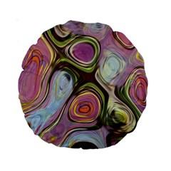 Retro Background Colorful Hippie Standard 15  Premium Round Cushions by Onesevenart