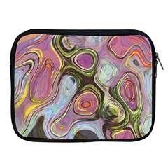 Retro Background Colorful Hippie Apple Ipad 2/3/4 Zipper Cases