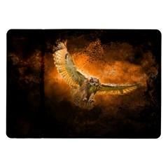 Art Creative Graphic Arts Owl Samsung Galaxy Tab 10 1  P7500 Flip Case by Onesevenart
