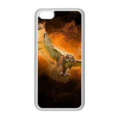 Art Creative Graphic Arts Owl Apple Iphone 5c Seamless Case (white) by Onesevenart