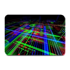 Electronics Board Computer Trace Plate Mats by Onesevenart