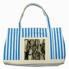 Abstract Black And White Background Striped Blue Tote Bag