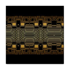 Board Digitization Circuits Tile Coasters by Onesevenart