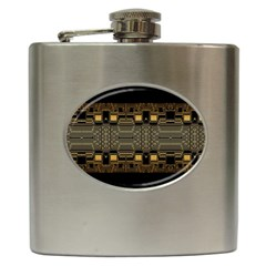 Board Digitization Circuits Hip Flask (6 Oz) by Onesevenart