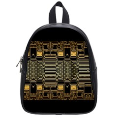 Board Digitization Circuits School Bag (small) by Onesevenart