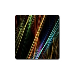 Lines Rays Background Light Square Magnet