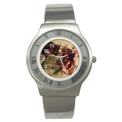 Sheet Music Manuscript Old Time Stainless Steel Watch by Onesevenart