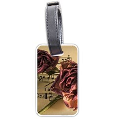 Sheet Music Manuscript Old Time Luggage Tags (one Side)  by Onesevenart
