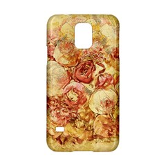 Vintage Digital Graphics Flower Samsung Galaxy S5 Hardshell Case  by Onesevenart
