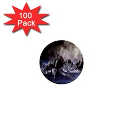 Mountains Moon Earth Space 1  Mini Magnets (100 Pack)