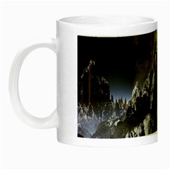 Mountains Moon Earth Space Night Luminous Mugs by Onesevenart