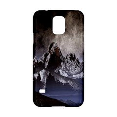 Mountains Moon Earth Space Samsung Galaxy S5 Hardshell Case  by Onesevenart