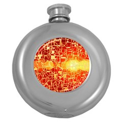 Board Conductors Circuits Round Hip Flask (5 Oz) by Onesevenart