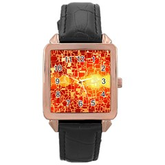 Board Conductors Circuits Rose Gold Leather Watch  by Onesevenart
