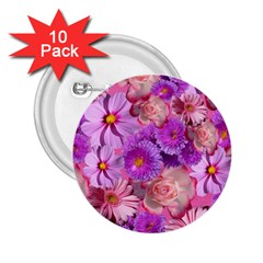 Flowers Blossom Bloom Nature Color 2 25  Buttons (10 Pack)  by Onesevenart