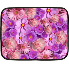 Flowers Blossom Bloom Nature Color Double Sided Fleece Blanket (mini)  by Onesevenart