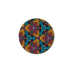 Grubby Colors Kaleidoscope Pattern Golf Ball Marker (10 Pack) by Onesevenart