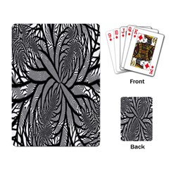 Fractal Symmetry Pattern Network Playing Card by Onesevenart