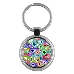 Board Interfaces Digital Global Key Chains (round)  by Onesevenart
