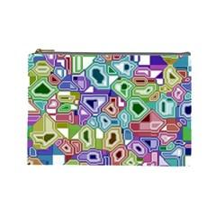 Board Interfaces Digital Global Cosmetic Bag (large)  by Onesevenart