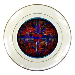 Board Interfaces Digital Global Porcelain Plates by Onesevenart