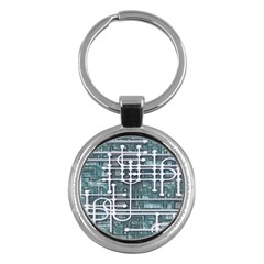 Board Circuit Control Center Key Chains (round)  by Onesevenart
