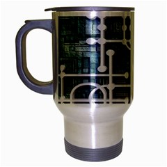 Board Circuit Control Center Travel Mug (silver Gray) by Onesevenart