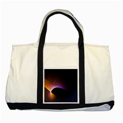 Star Graphic Rays Movement Pattern Two Tone Tote Bag by Onesevenart
