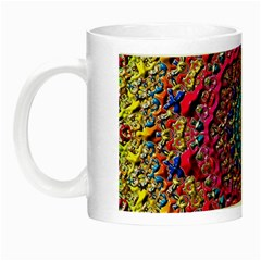 Background Fractals Surreal Design Night Luminous Mugs by Onesevenart