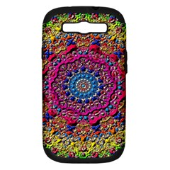 Background Fractals Surreal Design Samsung Galaxy S Iii Hardshell Case (pc+silicone) by Onesevenart