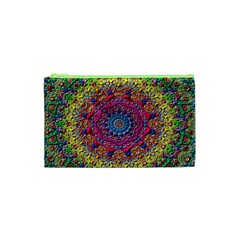 Background Fractals Surreal Design Cosmetic Bag (xs) by Onesevenart