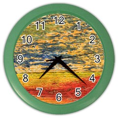 The Framework Drawing Color Texture Color Wall Clocks by Onesevenart