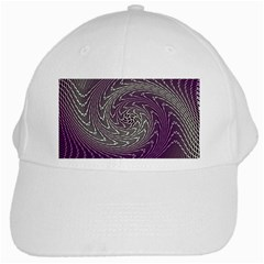 Graphic Abstract Lines Wave Art White Cap by Onesevenart