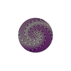 Graphic Abstract Lines Wave Art Golf Ball Marker by Onesevenart