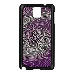 Graphic Abstract Lines Wave Art Samsung Galaxy Note 3 N9005 Case (black) by Onesevenart