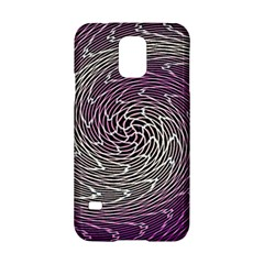 Graphic Abstract Lines Wave Art Samsung Galaxy S5 Hardshell Case  by Onesevenart