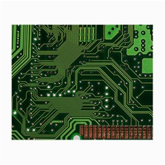 Board Computer Chip Data Processing Small Glasses Cloth (2 Side) by Onesevenart