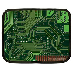 Board Computer Chip Data Processing Netbook Case (large) by Onesevenart