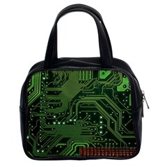 Board Computer Chip Data Processing Classic Handbags (2 Sides) by Onesevenart