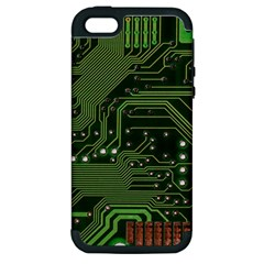 Board Computer Chip Data Processing Apple Iphone 5 Hardshell Case (pc+silicone)