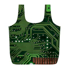 Board Computer Chip Data Processing Full Print Recycle Bags (l)  by Onesevenart