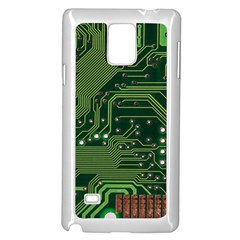 Board Computer Chip Data Processing Samsung Galaxy Note 4 Case (white) by Onesevenart